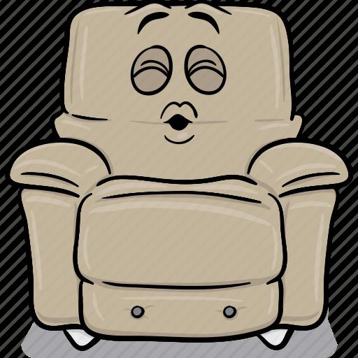 arm, armchair, cartoon, chair, emoji, stuffed icon