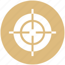 aim, bulls eye, circle, military, navy, target, war icon