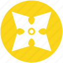 karate, ninja, plain, sharpen, shuriken, throwing, weapon icon