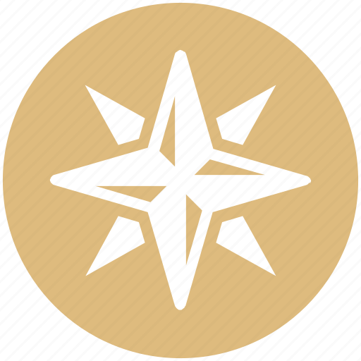 army, compass, direction, hiking, navigation, rose, wind icon