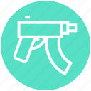 army, automatic, game, gun, military, short, weapon icon