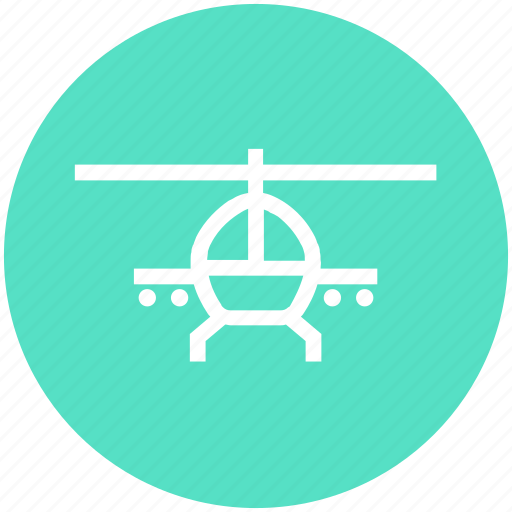 army, equipment, flying, helicopter, military, vehicle icon