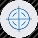 aim, army, bulls eye, military, navy, target, war icon