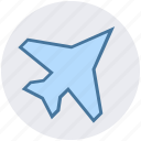 aircraft, airplane, army, army plane, force, military, war icon