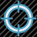 aim, bulls eye, circle, military, navy, target, war icon