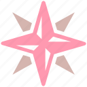 army, compass, direction, hiking, military, navigation, orienteering, rose, wind icon