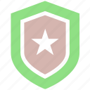 army, badge, law, military, police, security, sheriff, soldier, star, war icon