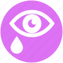 army, crying, drop, eye, hurt, tear, tears icon