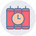 army, bomb, dynamite, military, terror, time, weapon icon