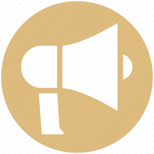advertising, announcement, army, audio, enforcement, loudspeaker, megaphone icon