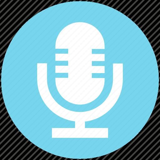 audio, mic, microphone, multimedia, record, sound, speak icon