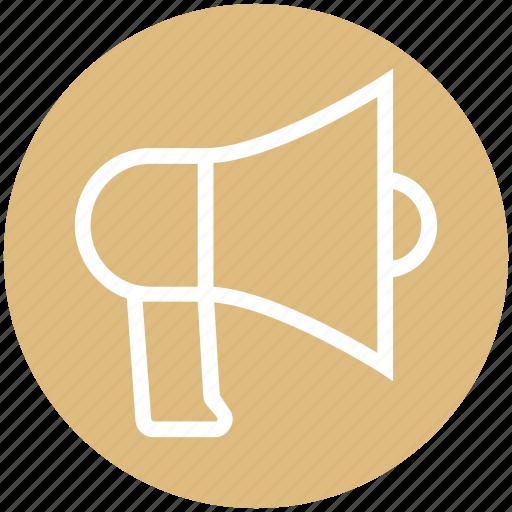 advertising, announcement, army, audio, enforcement, loudspeaker, megaphone icon