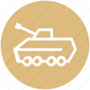 army tank, gun, machine, military, tank, war, weapon icon