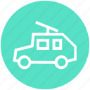 army van, car, gun, machine, military, tank, war icon