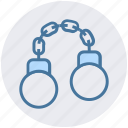 army, cuff, equipment, handcuff, lust, military, shackle icon