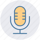 audio, mic, microphone, multimedia, record, sound, speak icon