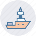 industry, maritime, navy, sail, ship, shipping, transport icon