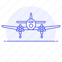 2, aerial, aeroplane, air, aircraft, airplane, army, combat, force, plane, war, warfare icon