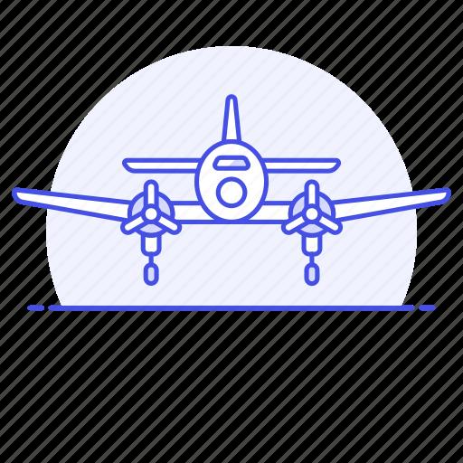 2, aerial, aeroplane, air, aircraft, airplane, army, combat, force, plane, war, warfare icon