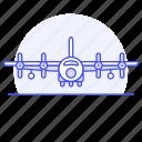 aerial, aeroplane, air, aircraft, airplane, army, combat, force, plane, war, warfare icon