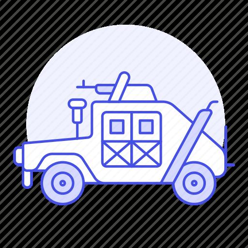 army, combat, gulf, humvee, military, multipurpose, transport, truck, vehicle, war icon