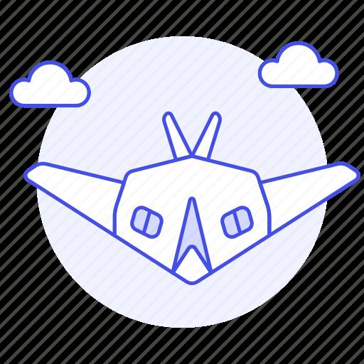 aerial, air, aircraft, army, combat, force, military, radar, stealth, war, warfare icon