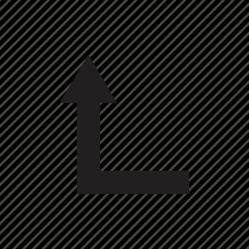 arrow, cursor, direction, pointer, up, way icon
