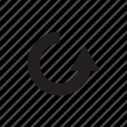 arrow, circle, cursor, direction, pointer, redo, way icon