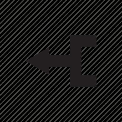 arrow, crossroads, cursor, direction, junction, left, way icon