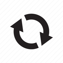 arrow, circle, cursor, direction, recycle, reload, reuse icon