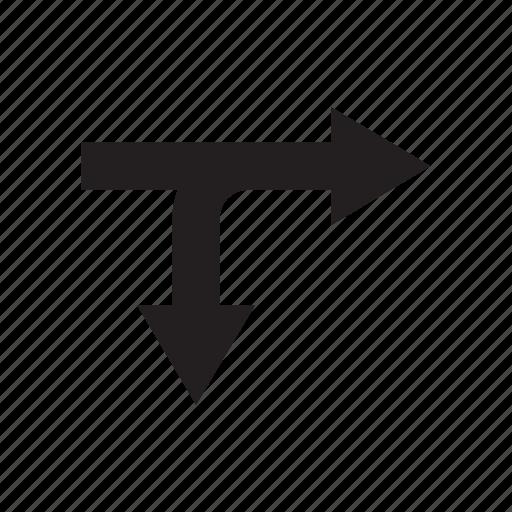 arrow, crossroads, cursor, direction, junction, pointer, way icon
