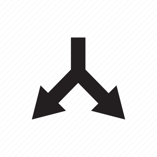 Arrow, crossroads, cursor, direction, junction, pointer, way icon - Download on Iconfinder