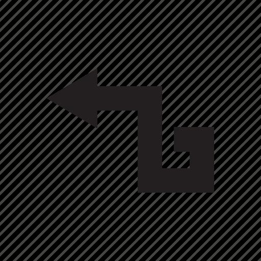arrow, direction, left, way icon