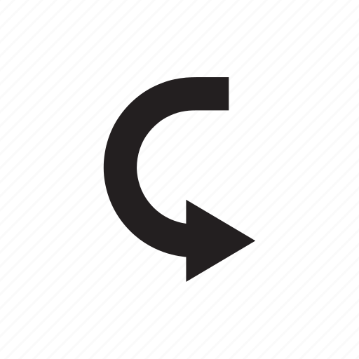 arrow, cursor, curve, direction, next, pointer, way icon