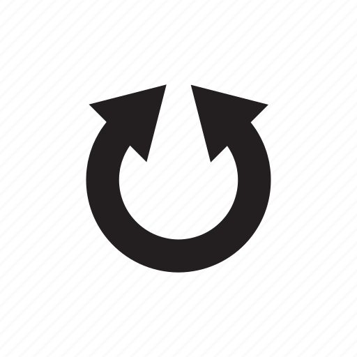 arrow, direction, loop, redo, reload, way icon