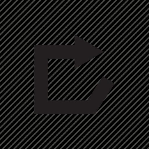 arrow, direction, forward, loop, reload, right, way icon