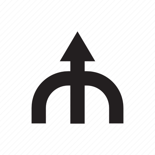 arrow, direction, junction, up, way icon