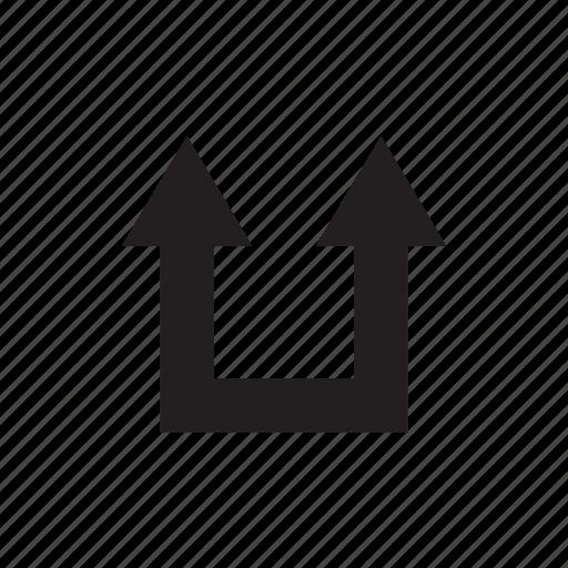 arrow, cursor, direction, up, way icon