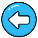 arrow, arrows, back, direction, left, previous icon