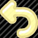arrows, curve arrow, go back, history, left, undo icon