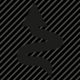 arrow, cursor, diretion, doodle, sign, up icon
