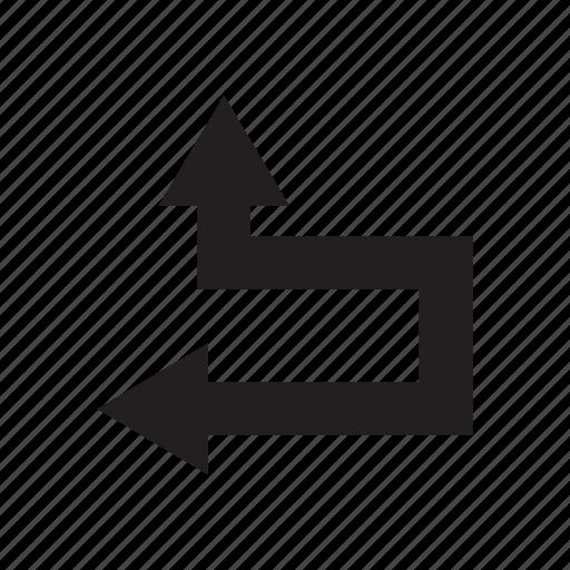 arrow, cursor, direction, left, up, way icon