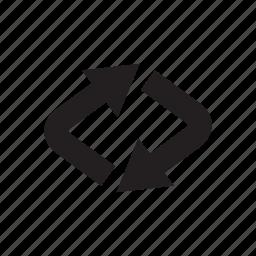 arrow, cursor, direction, loop, redo, reload, way icon