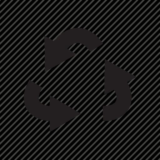 arrow, direction, loop, recycle, reuse, way icon