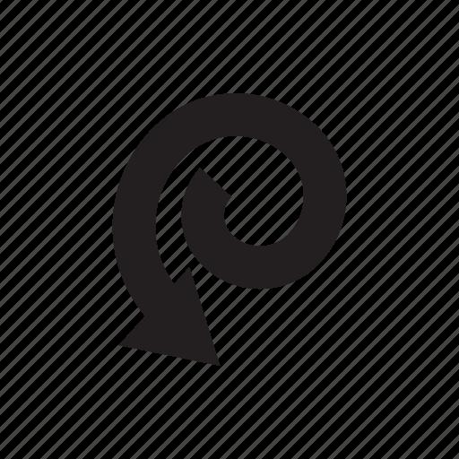 arrow, cursor, direction, pointer, swirl, way icon