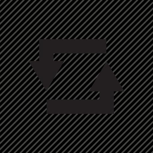 arrow, cursor, direction, loop, reload, way icon