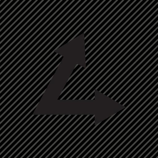 arrow, direction, pointer, way icon