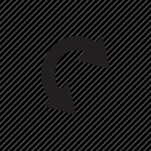 arrow, curve, direction, way icon