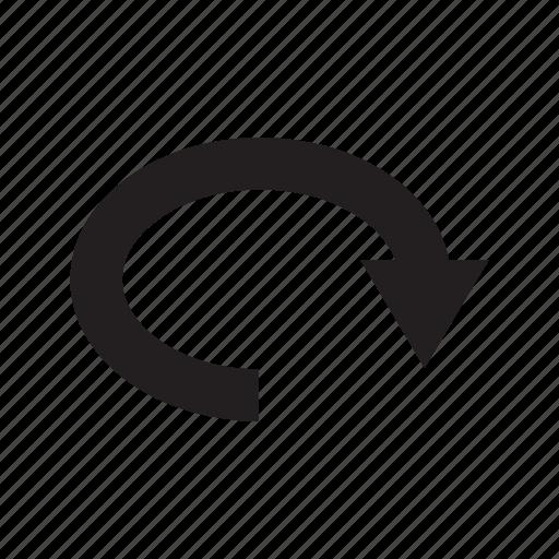 arrow, circle, direction, loop, way icon