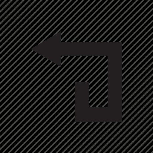 arrow, back, direction, left, way icon